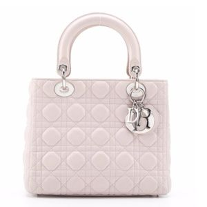 Dior Quilted Cannage Pale Pink Medium Lady Dior